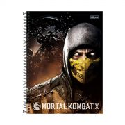 Caderno Mortal Kombat X Scorpion 1 Mat�ria