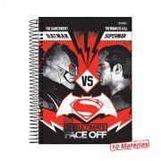 Caderno Batman VS Superman Face Off 10 Matérias