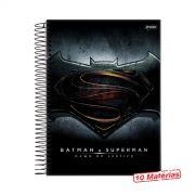 Caderno Batman VS Superman Logo 10 Mat�rias