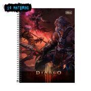 Caderno Diablo Barbaro 10 Mat�rias