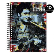 Caderno Elvis Presley The King Of Rock n� Roll Colors 10 Mat�rias