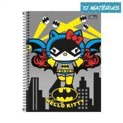 Caderno Hello Kitty DC Comics Batgirl 10 Matérias