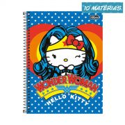 Caderno Hello Kitty DC Comics Wonder Woman 10 Matérias
