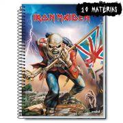 Caderno Iron Maiden The Trooper 10 Mat�rias