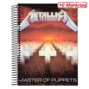 Caderno Metallica Master Of Puppets 10 Mat�rias