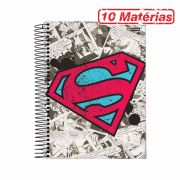 Caderno Superman Logo Retr� 10 Mat�rias