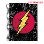 Caderno The Flash Logo Retrô 10 Matérias