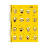 Caderno The Simpsons Faces 10 Mat�rias