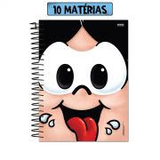 Caderno Turma da Mônica Big Face Magali 10 Matérias