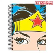 Caderno Wonder Woman Face 10 Matérias