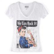 Camiseta Devorê Feminina 89FM We Can Rock It!