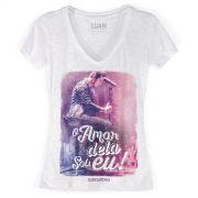 Camiseta Devorê Feminina Luan Santana O Amor Dela Sou Eu