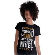 Camiseta Feminina Biel T� Tirando Onda