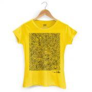 Camiseta Feminina Fino Farofa de Religi�o Yellow