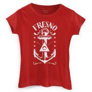 Camiseta Feminina Fresno Anchor Red