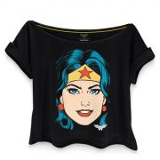 Camiseta Feminina Gola Canoa Wonder Woman Pop Culture