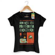 Camiseta Feminina Ícones Chaves Vintage