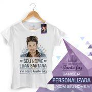 Camiseta Feminina Luan Santana Tanto Faz Colors