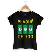 Camiseta Feminina MC Guim� Plaqu� de 100
