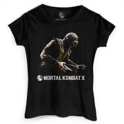 Camiseta Feminina Mortal Kombat X Capa