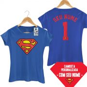 Camiseta Feminina Supergirl Logo Name
