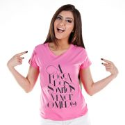 Camiseta Feminina Sofia Oliveira A For�a dos Sonhos