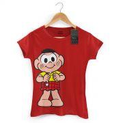 Camiseta Feminina Turma Da Mônica Kids Cascão