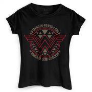 Camiseta Feminina Wonder Woman Logo Power Love