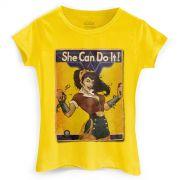 Camiseta Feminina Wonder Woman She Can Do It!