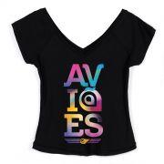 Camiseta Gola V Feminina Avi�es do Forr� Colors