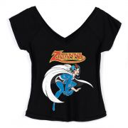Camiseta Gola V Feminina DC Comics Zatanna