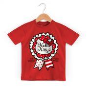 Camiseta Infantil Hello Kitty Selo Arigato