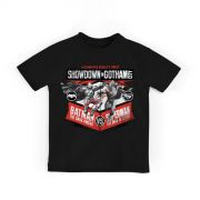 Camiseta Infantil Batman Vs Superman Showdown in Gotham City