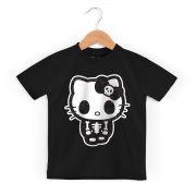 Camiseta Infantil Hello Kitty Skull