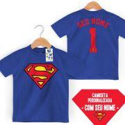Camiseta Infantil Superman Logo Name