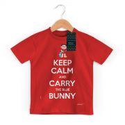 Camiseta Infantil Turma da M�nica Cool Keep Calm And Carry The Blue Bunny