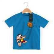Camiseta Infantil Turma da Mônica Kids Cascão Soltando Pipa