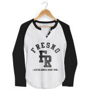 Camiseta Manga Longa Raglan Feminina Fresno Juntos Somos Mar� Viva