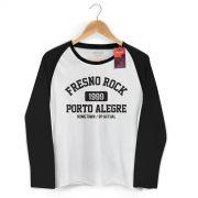 Camiseta Manga Longa Raglan Feminina Fresno Rock 3