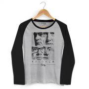 Camiseta Manga Longa Raglan Feminina Sk91 Capa