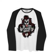 Camiseta Manga Longa Raglan Masculina Kiss Creatures Of The Night