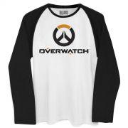 Camiseta Manga Longa Masculina Overwatch Logo