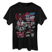 Camiseta Masculina 89FM A Rádio Rock 30 Anos Poster