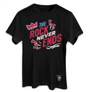 Camiseta Masculina 89FM A Radio Rock 30 Anos The Rock Never Ends