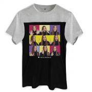 Camiseta Masculina Bicolor Ivete Sangalo �ngulos