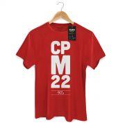 Camiseta Masculina CPM 22 90�s Vermelha