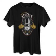 Camiseta Masculina Dudu Borges Love is Music