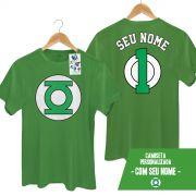 Camiseta Masculina Lanterna Verde Logo Name