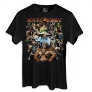 Camiseta Masculina Mortal Kombat Personagens
