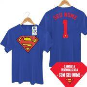 Camiseta Masculina Superman Logo Name